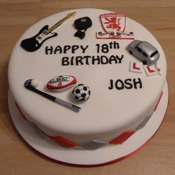 Lots of hobbies cake