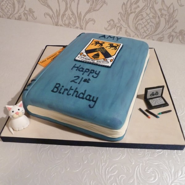 Oxford Student book cake