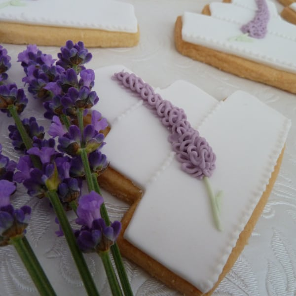 Lavender wedding cake cookies