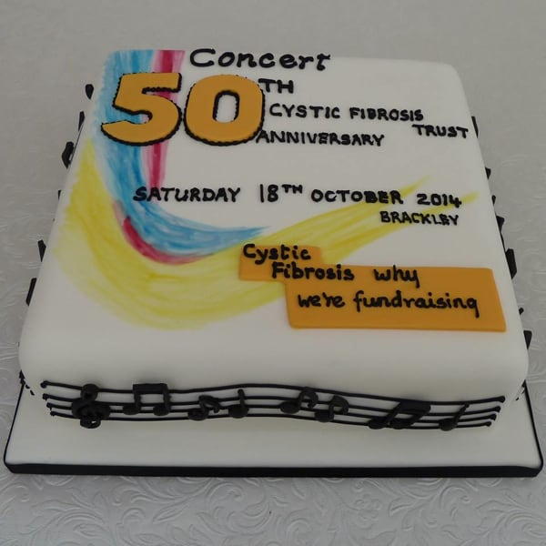 Cystic Fybrosis Trust charity cake