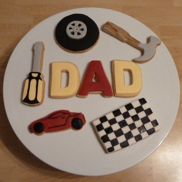 Father's Day car theme cookies