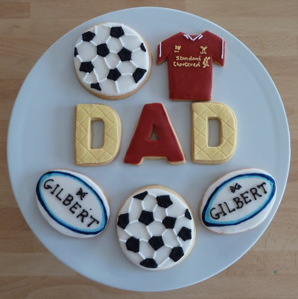 Father's Day sport cookies