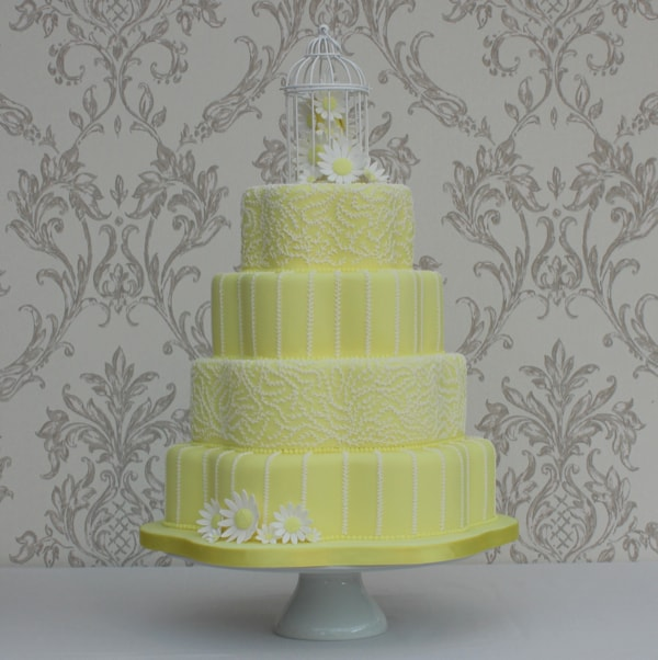 Petal shape wedding cake