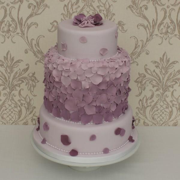 Lilac Petal wedding cake