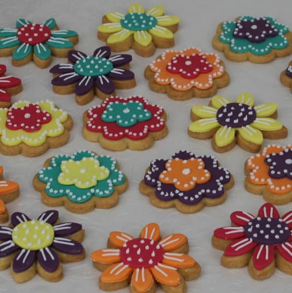 Bright flower cookies