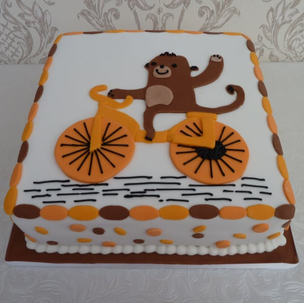 Monkey on a bike cake