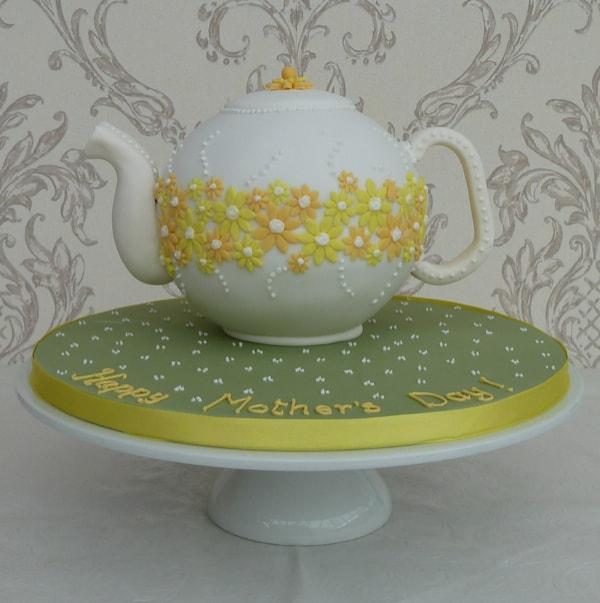 Spring Flower Teapot cake