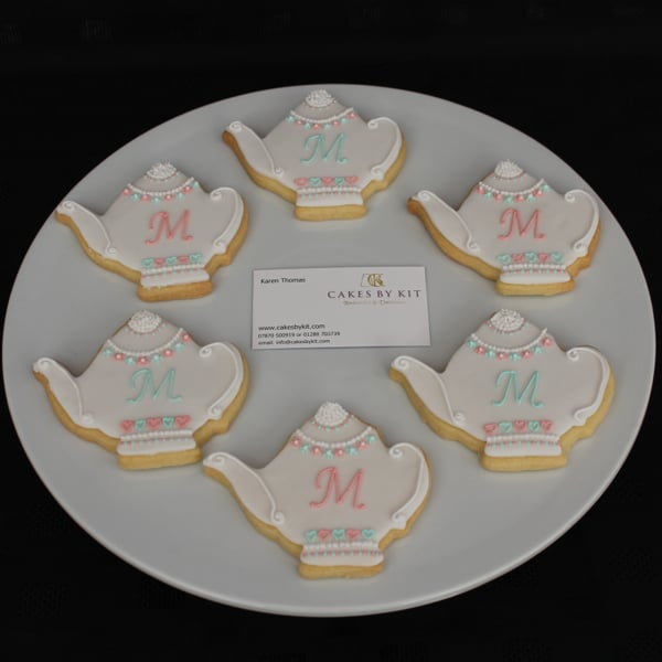 Teapot shape cookies