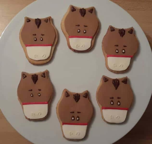 Horse head cookies