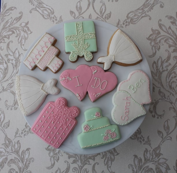 wedding cookie favour selection