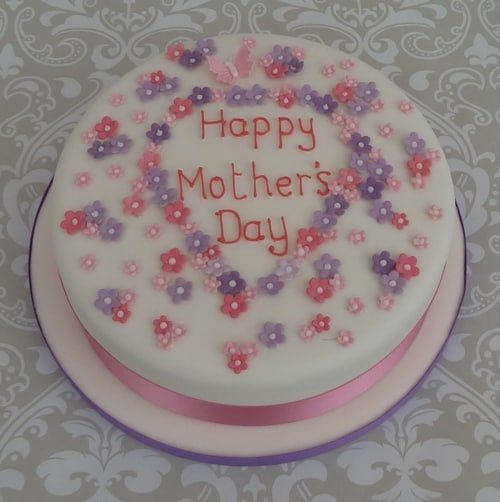 Mothers day cake in pink & lilac