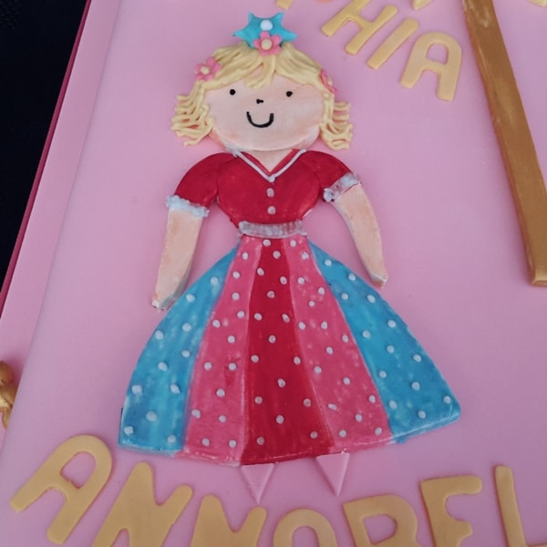 Princess detail on a birthday cake