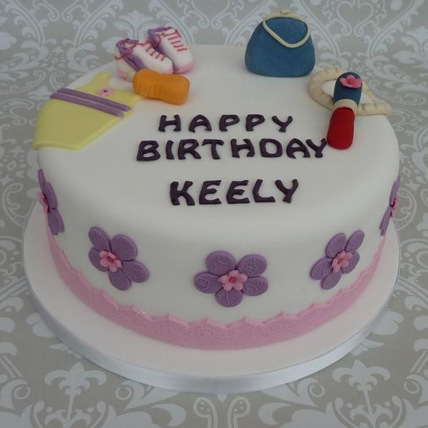 Sporty girl cake