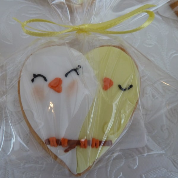 Lovebird Wedding Cookies