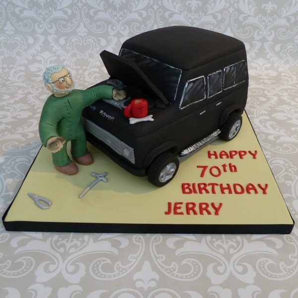 Landrover 70th Birthday Cake