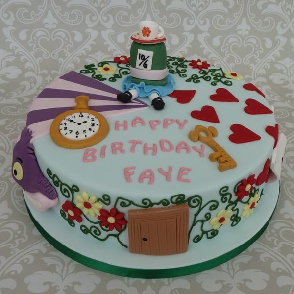 Wonderland theme Birthday Cake