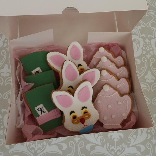 Mad hatter, March Hare and teapot cookies