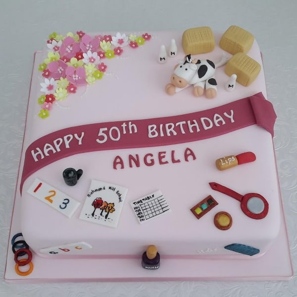 50th Birthday hobby cake
