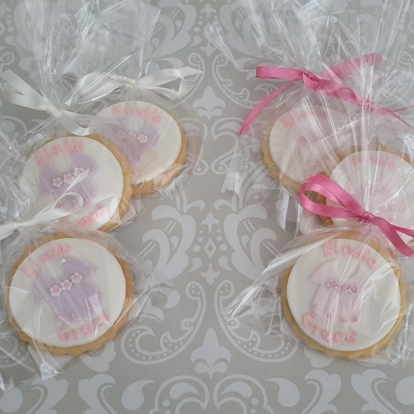 Cookies to match the Christening cake