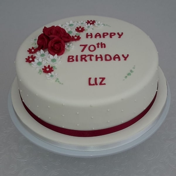 70th Birthday cake for a lady