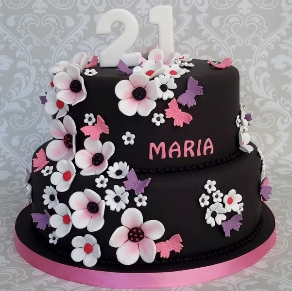 21st Black Pretty Cake