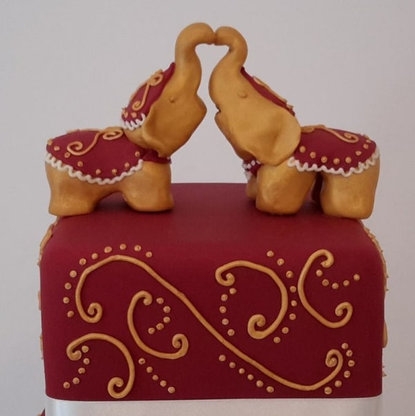 Elephant Cake Topper Indian Wedding