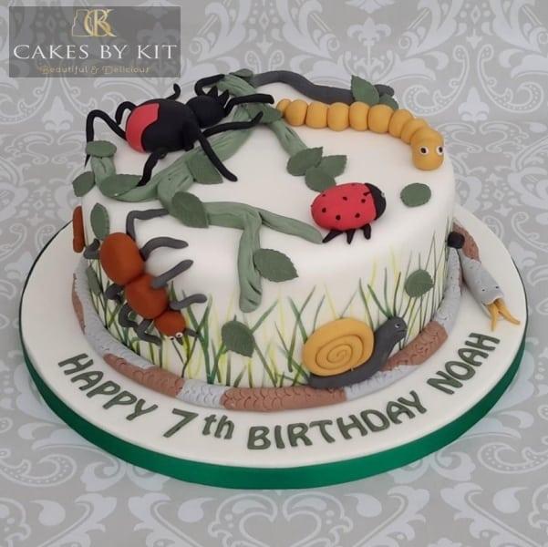 Rocket alien cake