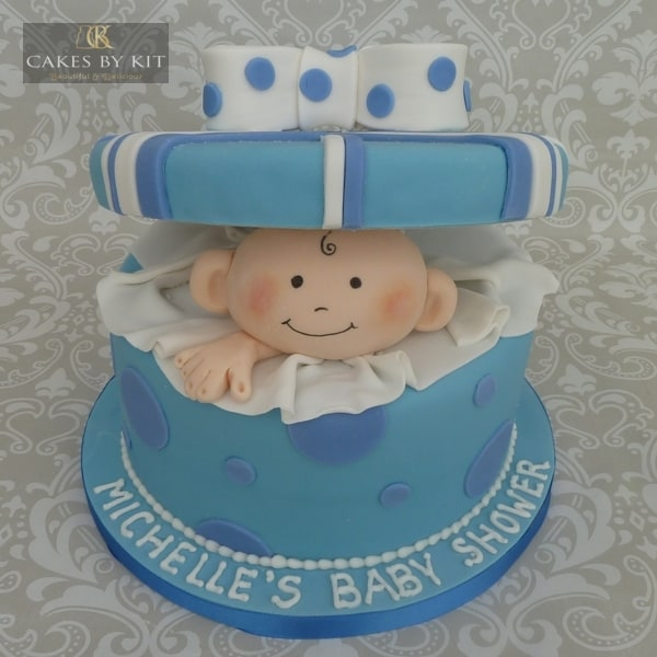 Baby shower cake boy