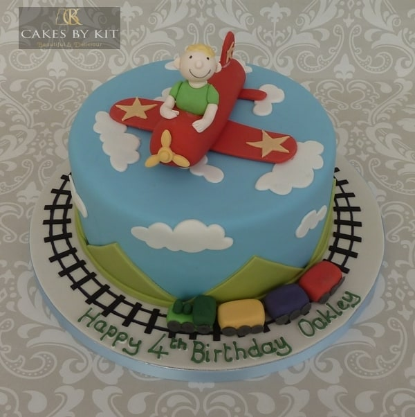 Planes & Trains cake
