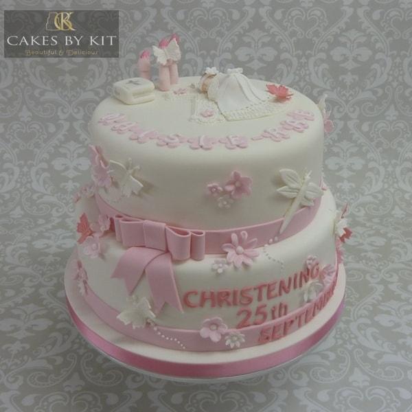 Girl's Christening cake