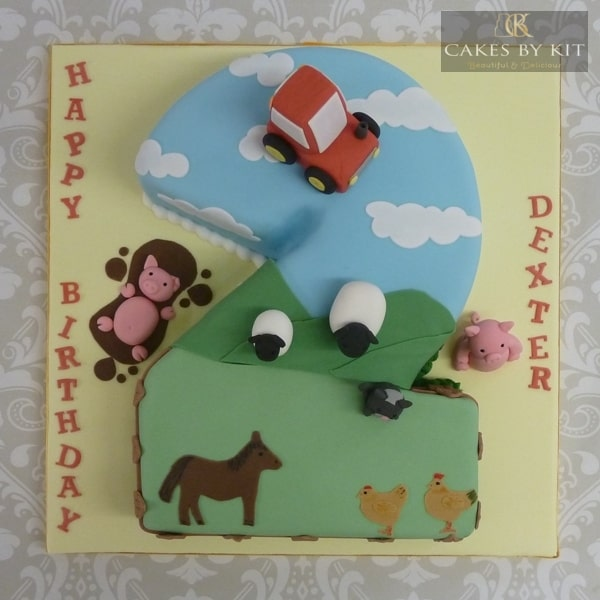 Numeral 2 cake