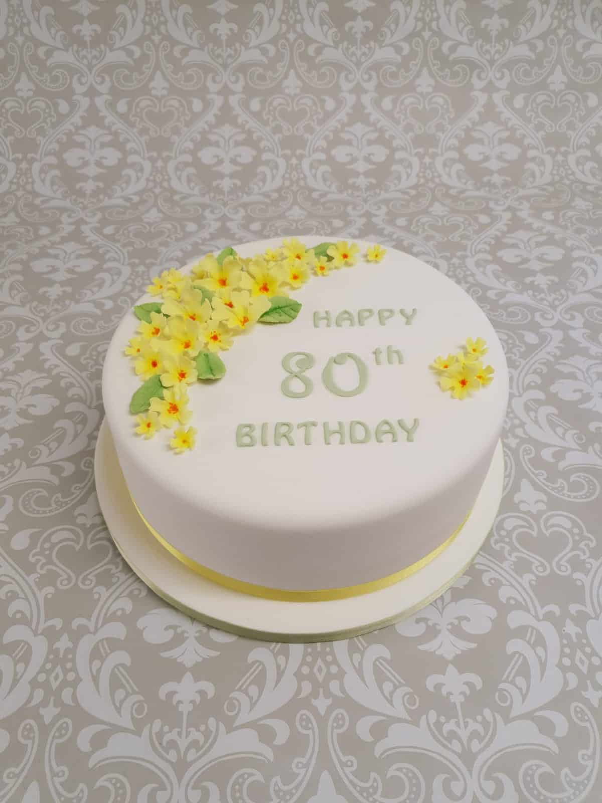 60th Birthday floral tier