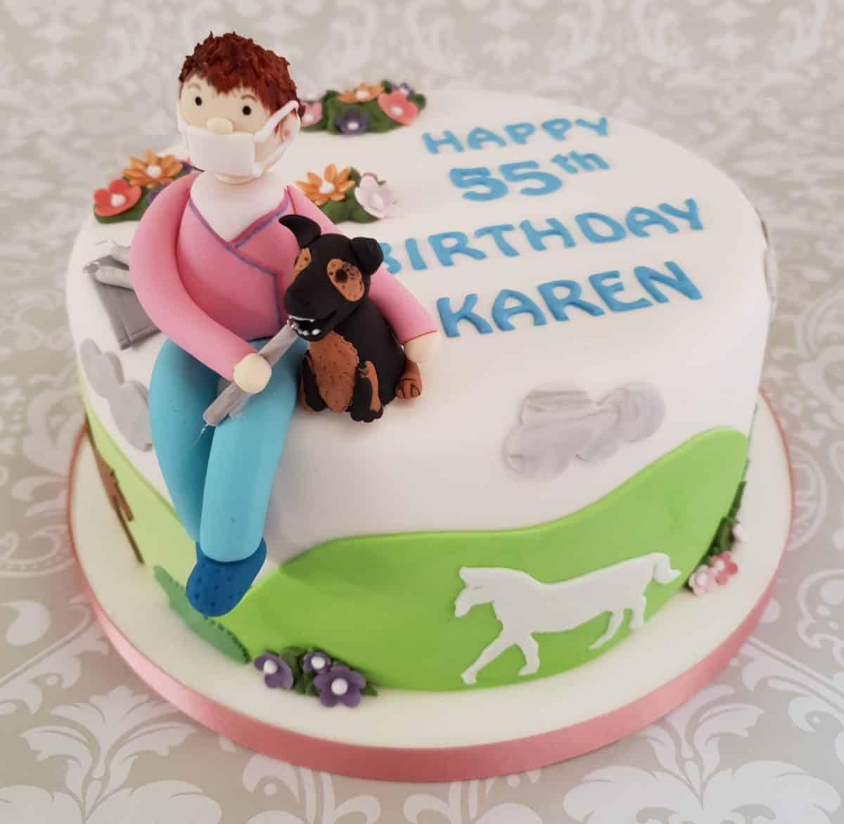 Pug & travel cake